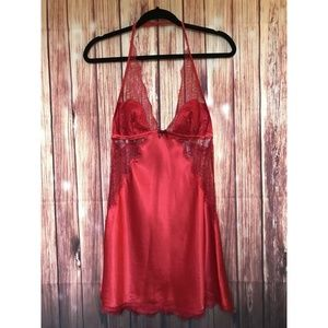 VS Silky Red Sheer Floral Lace Lingerie Nigh